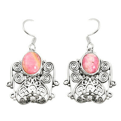 factory direct sale natural rhodochrosite inca rose (argentina) earrings m38621
