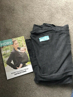 Moby Wrap / sling / baby carrier - charcoal grey