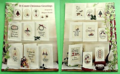 14 COUNT CHRISTMAS GREETINGS ~ 1993 Cross Stitch SC  Pattern Book