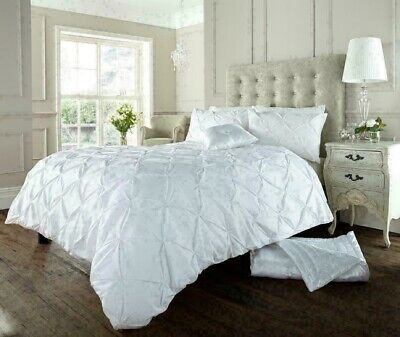 Pintuck Duvet Cover Super King Polycotton White Pintuck Duvet Set Superking Size