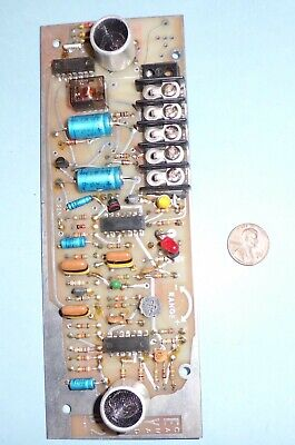 Vintage CONTRONIC Ultrasound Motion Detector PCB Assy In Working Condition