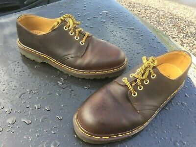 Dr Martens 1561 brown gaucho crazy leather shoes UK 10 EU 45 Made in England