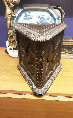 Antique Church carved stool or figurine stand