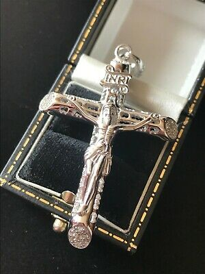 LARGE Solid 925 Sterling Silver HEAVY Cross/Crucifix Pendant BRAND NEW FREE P&P