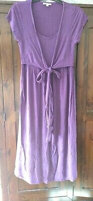 Jojo Maman Bebe Breastfeeding Nursing Maternity Dress Size S Purple