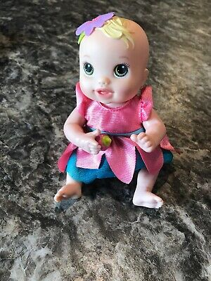 "Baby Alive Kicks & Cuddles Newborn 6.5"" Baby Doll Pull Toy with Dress 2012 Works"