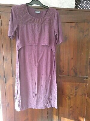 Milk Nursingwear Purple Nursing Breastfeeding Dress Size M