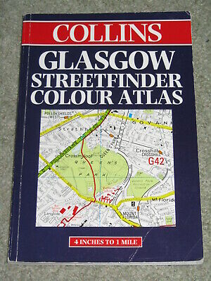 Glasgow Streetfinder Colour Atlas Collins Streetfind... by Collins Uk Paperback