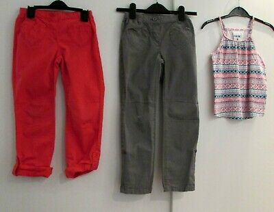 Girls Bundle 6-7 Years Trousers & Vest Top Vertbaudet Etc Used Condition