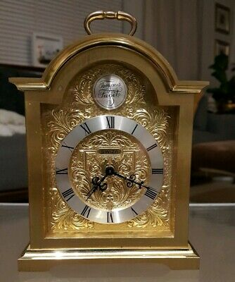 Swiza 'Tempus Fugit' Swiss Made Solid Brass Mantel Clock In Perfect Condition