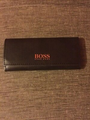 Hugo Boss Brown Designer Glasses Case And Cloth. Brand New