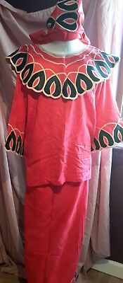 Ladies Beautiful African Outfit Lapa Skirt & Blouse Size UK 18/20