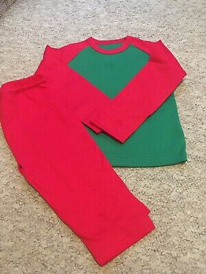 Childrens Red And Green Elf Inspired Xmas Pyjama Blanks 5 Pack 2/3 Years