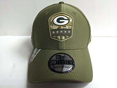 Green Bay Packers Cap Era 39Thirty Stretch Fit 2019 Salute to Service Hat NFL