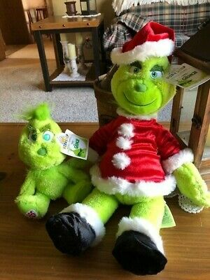"""Build a Bear BABW """"The Grinch/Young Grinch"""" Set SOLD OUT-NWT-READY TO SHIP"""