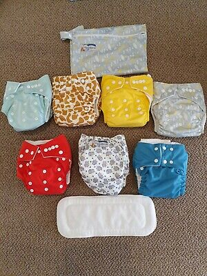 Reusable baby nappies bundle includes Second Hand and New!