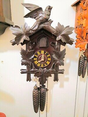 Vintage Authentic Antique German Cooco Clock  In Good Working Order