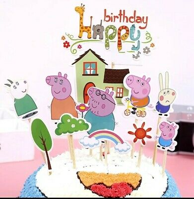 Prime Peppa Pig Birthday Cake Topper 5 00 Picclick Uk Personalised Birthday Cards Paralily Jamesorg
