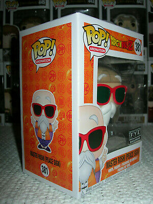 Funko Pop Dragon Ball Z 381 MASTER ROSHI PEACE SIGN FYE Exclusive