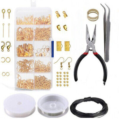 10 Grids DIY Supplies Findings And Beading Jewelry Making Kit Wires Repair Tool