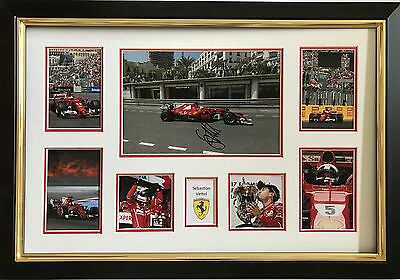 Sebastian Vettel Hand Signed Autograph Framed Photo Display Ferrari F1 2017 1.