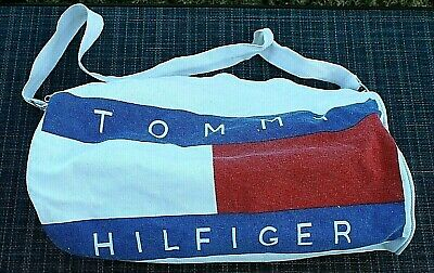 "Vintage 1986 RARE Large 20"" Tommy Hilfiger Duffel bag Strap only version Only 1"