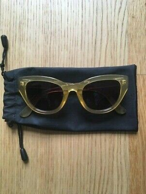 & Other Stories clear yellow cat eye sunglasses NEW