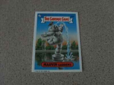 The GARBAGE gang series 3 (AUS) 92A MARVIN GARDENS card
