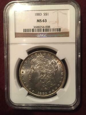 1883 MS63 NGC Morgan Dollar Toned
