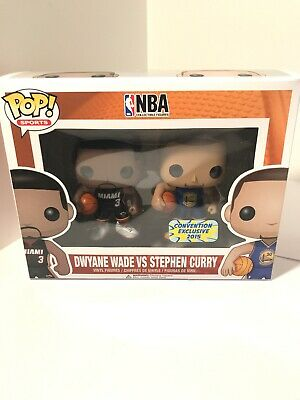 Funko Pop! Sports NBA Dwayne Wade vs Stephen Curry SDCC 2015 Exclusive