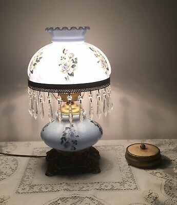 Wonderfull Milk Glass  Table Lamp