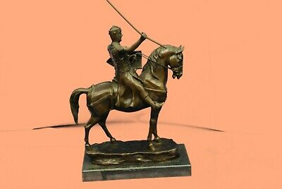 100% BRONZE Crusader Templar Medieval Knight Sculpture Statue Original Hot Cast