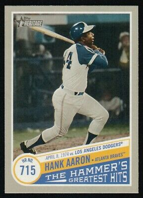2019 Topps Heritage High  Number Hank Aaron The Hammer's Greatest Hits Thgh-1