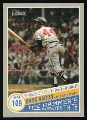 2019 Topps Heritage High  Number Hank Aaron The Hammer's Greatest Hits Thgh-2