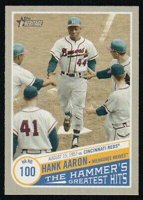2019 Topps Heritage High  Number Hank Aaron The Hammer's Greatest Hits Thgh-4