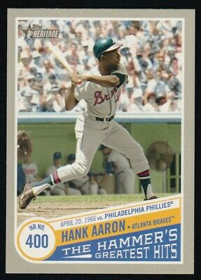 2019 Topps Heritage High  Number Hank Aaron The Hammer's Greatest Hits Thgh-7