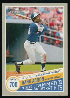 2019 Topps Heritage High  Number Hank Aaron The Hammer's Greatest Hits Thgh-10