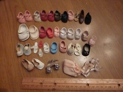 37 Single Shoes for Ginny Ginnette Barbie Ken Madame Alex Dolls + 1950's (M9 24)
