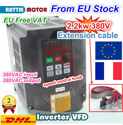 【FRA】380V 3ph 2.2KW Spindle Inverter Speed Control VFD Variable Frequency Driver
