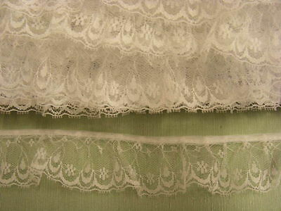 Gathered Lace White  10 metres  (163a) one break