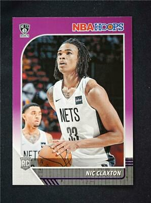 2019-20 Panini NBA Hoops RC Purple #241 Nicolas Claxton - Brooklyn Nets