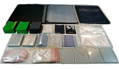 Ultra Pro TCG 100's of Sleeves, 19 Pages, 2 Folders, Cases, Bulk mixed Lot 4 MTG