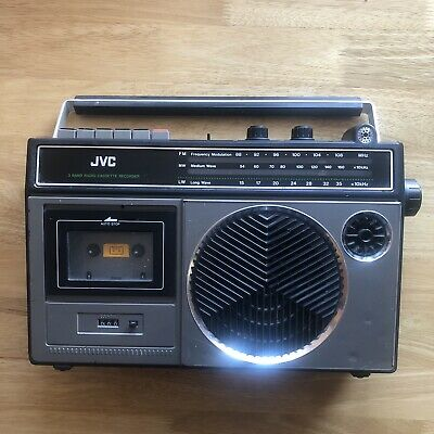 VINTAGE JVC RC-232LB Boombox RADIO CASSETTE - Tested & Working Retro