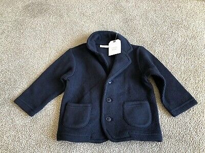 Next Baby Boys Navy Blue Cotton Cardigan / Jacket Age 6-9 Months BNWT NEW
