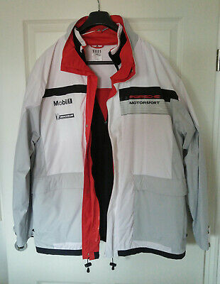 Porsche Jacke XL Motorsport Team mit Fleece Innenjacke Mobil Michelin adidas
