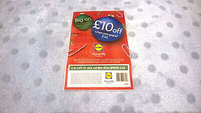 Lidl Supermarket Discount Coupon £10 off from £40