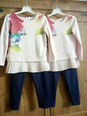 Twin Girls Ted baker Bundle  outfits age 2-3  Tops & Leggings