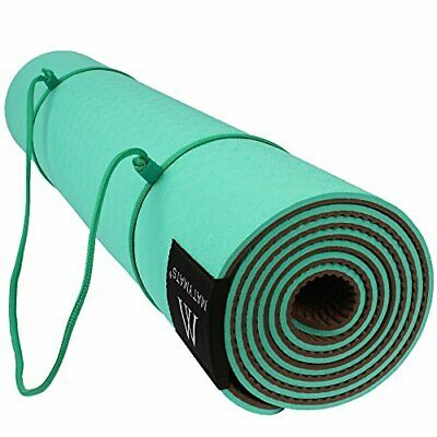 Goture Non Slip TPE Yoga Mat With Strap ,Sports Outdoor (- Grass Green)