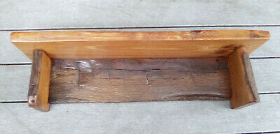 Wall Shelf Hand Crafted Antique Barn Wood Hand Hewn Floating Primitive HH 33