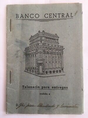 Talonario Del Banco Central De Madrid 1945. Interesante. Timbre Estatal.10 Hojas